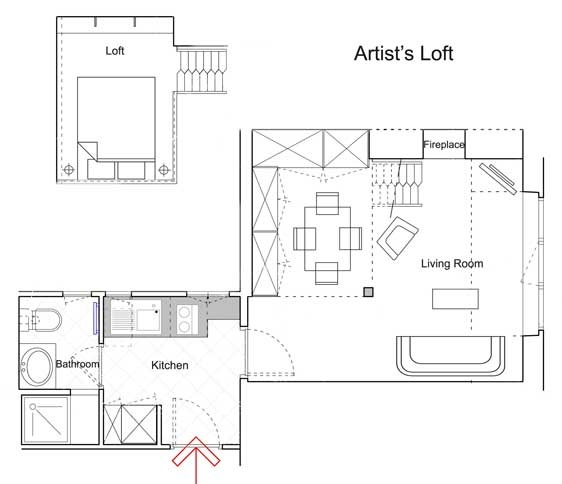 Meursault Apartment for Rent in Paris - Floorplan